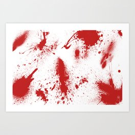 Bloody Blood Spatter Halloween Art Print