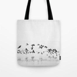 Wading birds in Flight Tote Bag