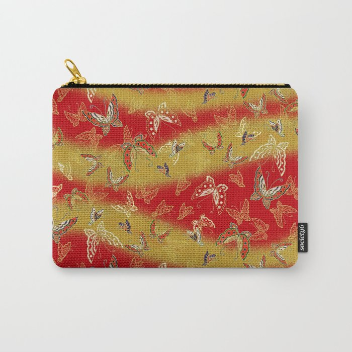 Red and Gold butterflies pattern Carry-All Pouch