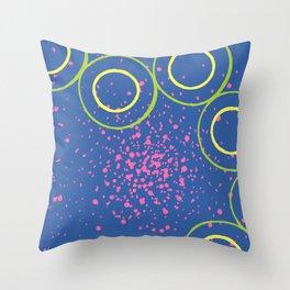 Star Cluster Blue Throw Pillow