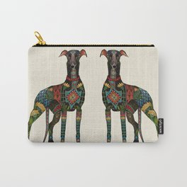 greyhound ivory Carry-All Pouch
