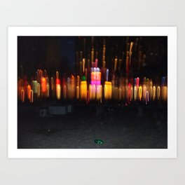 Florida Beach at Night Art Print