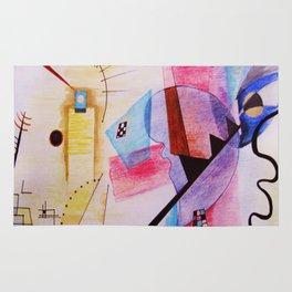 inspiration from Kandinsky . artwork Rug