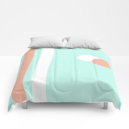 Turquoise & Coral (1) Comforters