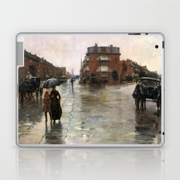 Childe Hassam - Rainy Day, Boston, 1885 Laptop & iPad Skin
