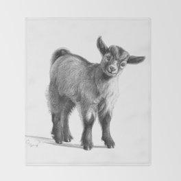 Goat baby G097 Throw Blanket