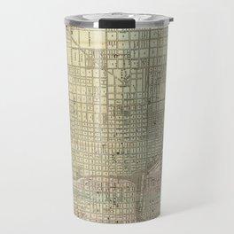 Vintage Map of Chicago (1857) Travel Mug