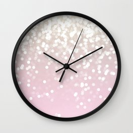 BLUSH GLITTER SPARKLE LIGHTS Wall Clock