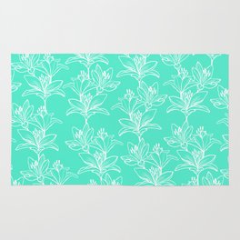 Lily Love in Mint Rug