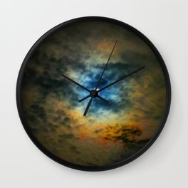 Rainbow Sun Wall Clock
