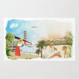 San Francisco + Los Angeles Rug