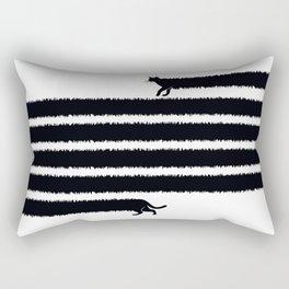 (Very) Mad Cat Rectangular Pillow