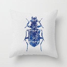 Blue Beetle II Throw Pillow