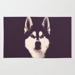 Vintage Oil Painting Husky Dog Special Design for Dog Lovers Rug