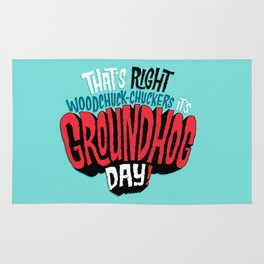 It's Groundhog Day! Rug