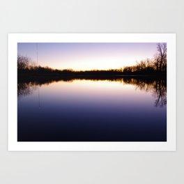 Lakeside Sunrise Art Print
