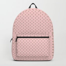 Hedgehog Forest Friends All-Over Repeat Pattern on Baby Pink Backpack