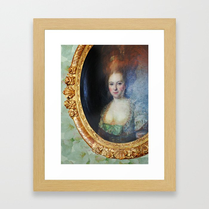 Roccoco Apple blossom Framed Art Print