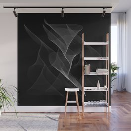 Black and White Flux #minimalist #homedecor #generativeart Wall Mural