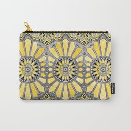 Sunny Yellow Radiant Watercolor Pattern Carry-All Pouch