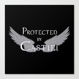 Protected by Castiel White Wings Canvas Print