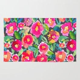 Hot floral mess - Dark Rug