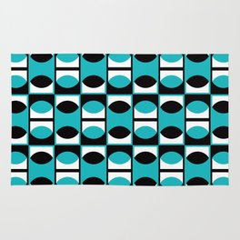 Geometric Pattern #133 (turquoise lens) Rug