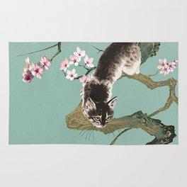 Fortune Cat In Cherry Tree Rug