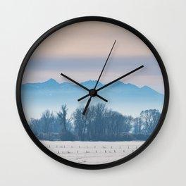 Spanish Peaks Fog Wall Clock