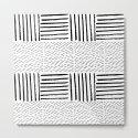 Black white watercolor modern brushstrokes pattern by pink_water