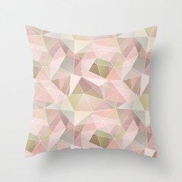 Broken glass in light pink tones. Throw Pillow