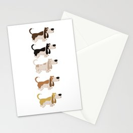 Basset Hound Colors Illustration Stationery Cards