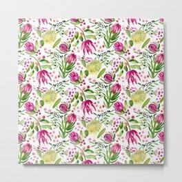 Protea Flower Bloom Metal Print