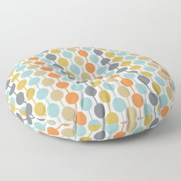 Retro Circles Mid Century Modern Background Floor Pillow