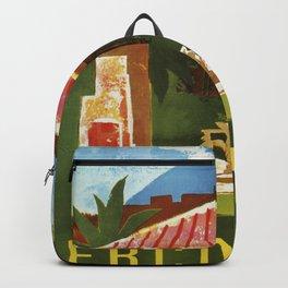 Ercolano Naples Italian summer travel ad Backpack