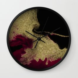 Black Honey - resin abstract painting Wall Clock