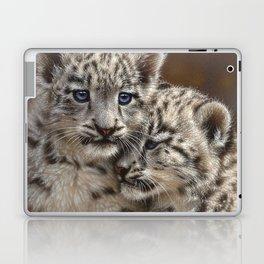 Snow Leopard Cubs - Playmates Laptop & iPad Skin