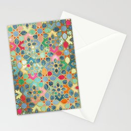 Gilt & Glory - Colorful Moroccan Mosaic Stationery Cards