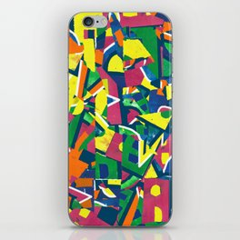 abstract 80s print iPhone Skin