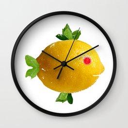 Lemon Fish Fantasy Wall Clock