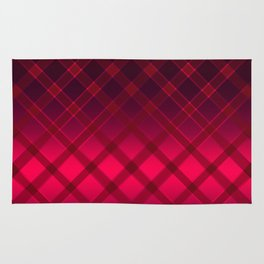 Beautiful oblique cage satin red on a black background . Rug