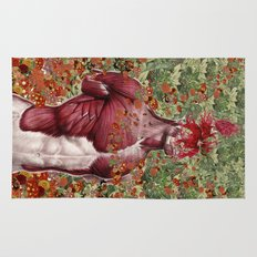 wellness anatomical collage art by bedelgeuse Rug