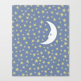 To the Mooon to the Starrs Canvas Print