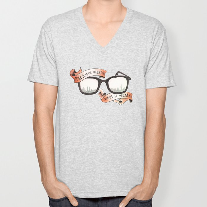 The Heart Wants What It Wants Unisex V-Neck