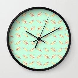 The Brrrrito Blanket Wall Clock