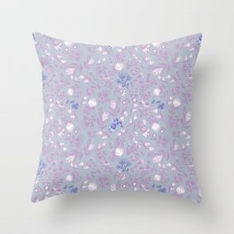 Fist Full of Lilacs Throw Pillow