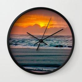 Ocean Sunset - Pacific Coast Highway 101 Wall Clock