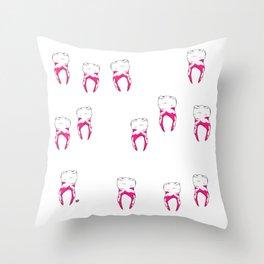Tooth Throw Pillow