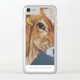 """ Ma maman me manque "" Clear iPhone Case"