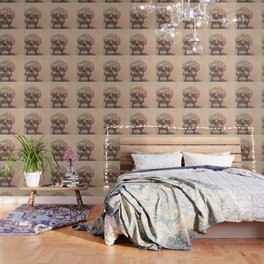Elementary skull Wallpaper